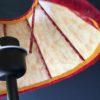 Abat-jour plissé tricolore